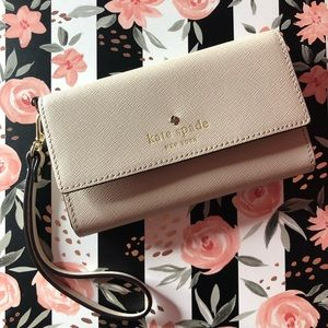 Kate Spade Leather Tri-Fold Wallet